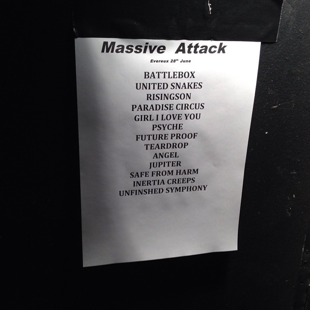 massive attack setlist