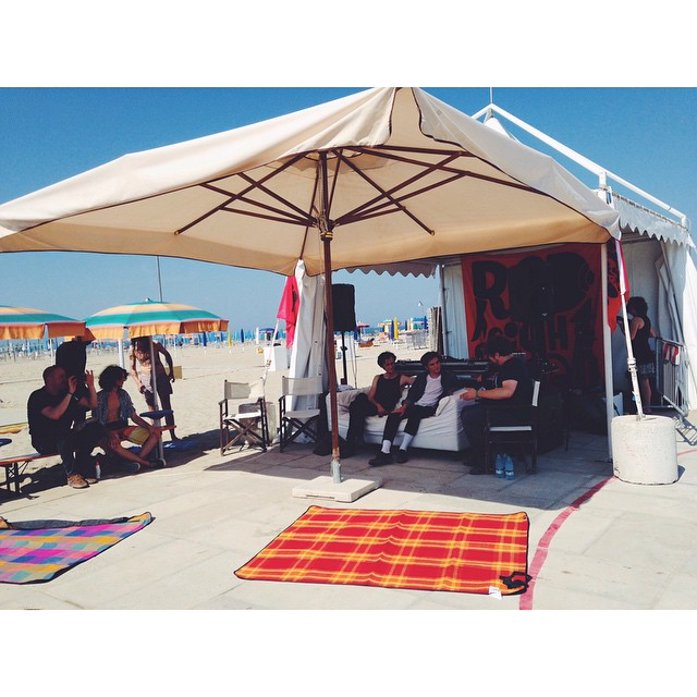 #ought #interview on the beach yesterday at #beachesbrew!