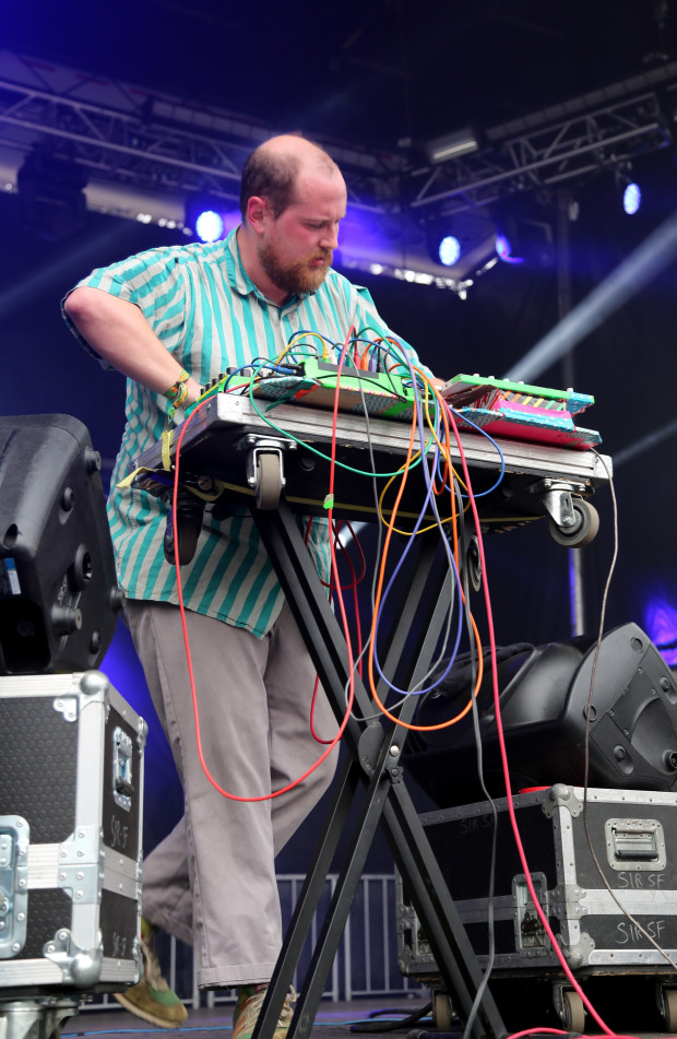 SAN FRANCISCO, CA - AUGUST 09:  Music producer Dan Deacon performs at the Panhandle Stage during day 3 of the 2015 Outside Lands Music And Arts Festival at Golden Gate Park on August 9, 2015 in San Francisco, California.  (Photo by FilmMagic/FilmMagic)