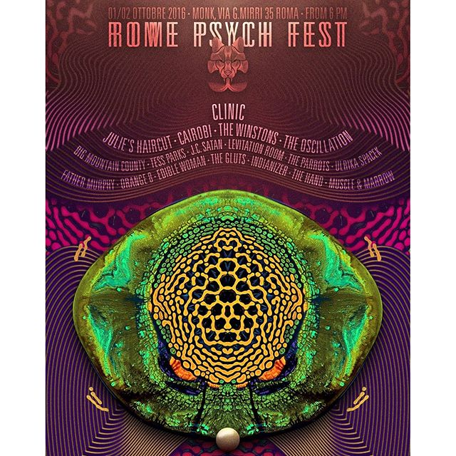 Hey there, ROME PSYCH FEST is about to start!w/Clinic, Julie's Haircut, Cairobi, The Winstons, The Oscillation and many many many more. Are you ready?