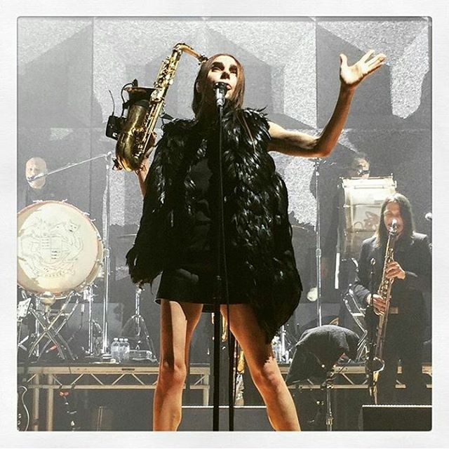 PJ HARVEY live in Milan yesterday, tonight in Firenze! Don't miss this Godness!! pic by @lotus_flower82