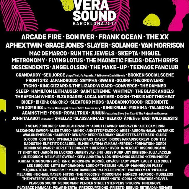 PRIMAVERA SOUND line-up is ON // What's your favourite artist?
