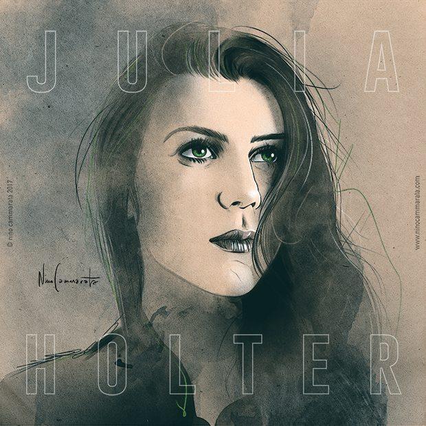 #JuliaHolter drawn by #NinoCammarara