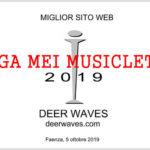 A Deer Waves e Pensierosecondario di Solventi la Targa Mei Musicletter 2019