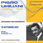 Firenze: Targa commemorativa a Piero Umiliani