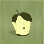 E dire che e' solo un torsolo di mela