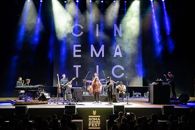The mighty ensemble of @cinematic_orchestra in Rome, at @romasummerfest — awesome performance!